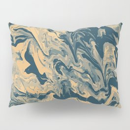 Baesic Paint Pour (Blue & Yellow) Pillow Sham