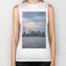 Skyline  of New York City at sunset Biker Tank