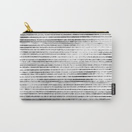 Black Stripes II Carry-All Pouch