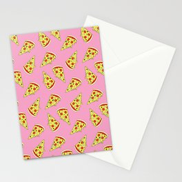 Pizza Pattern By Everett Co Stationery Cards