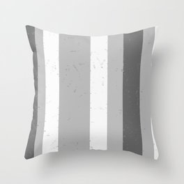 Asymmetrical Multi Value Grey Flecked Jagged Stripes Throw Pillow