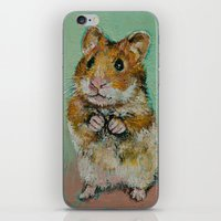 hamster iPhone & iPod Skins featuring Hamster by Michael Creese