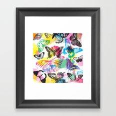 Butterfly Pattern Framed Art Print