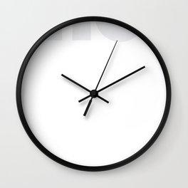 Ho Ho Ho Cubed Wall Clock