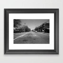 Off Queen - Jones Avenue - North Framed Art Print