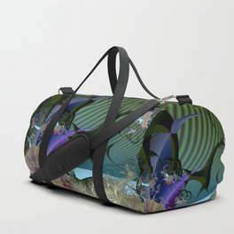 Night among fantasy plants Duffle Bag