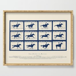 Horse In Motion - Sallie Gardner At A Gallop Serving Tray