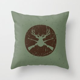 Caught in the crossfire Throw Pillow