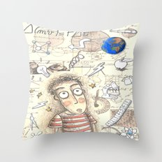 SCIENCE WORLD Throw Pillow