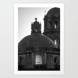Dome black & white Art Print