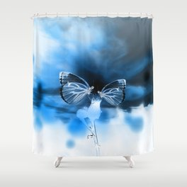 Butterfly Apocalypse Fantasy Planet Shower Curtain