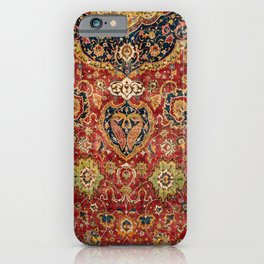 Indian Boho II // 16th Century Distressed Red Green Blue Flowery Colorful Ornate Rug Pattern iPhone Case