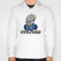 garrus Hoodies featuring Garrus Vakarian Is My Space Boyfriend by Maggie Davidson