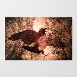 Crow Speach Canvas Print