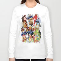 teen titans Long Sleeve T-shirts featuring Teen Titans by poopsmoothie