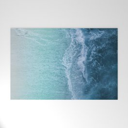 Turquoise Sea Welcome Mat