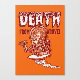 Death From Above (orange) Canvas Print