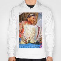 bands Hoodies featuring Rods & Cones & Rubber Bands by David Lavine