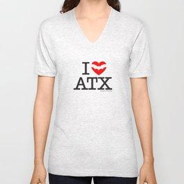 I Heart Austin Unisex V-Neck