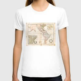 North and South America Map (1795) T-shirt