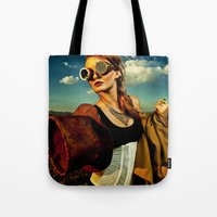 grim fandango Tote Bags featuring Grim by Imustbedead