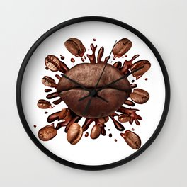 Coffee Lips Wall Clock