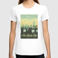 skyline T-shirts featuring NYC Skyline by Studio Tesouro