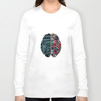 brain Long Sleeve T-shirts featuring Brain by BlueLela
