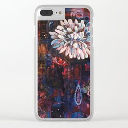 Just A White Bloom Clear iPhone Case