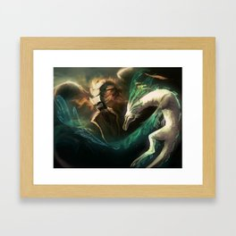 Grima vs Naga Framed Art Print