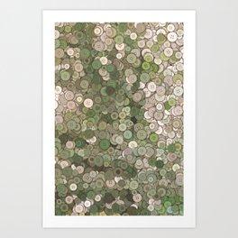 buttons fantasy garden Art Print