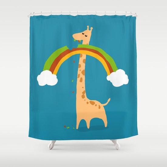 Taste of Happiness Rainbow Shower Curtain