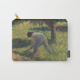 Peasant with a Hoe Oil Painting by Georges Seurat Carry-All Pouch