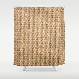 Real knitted fabric made of synthetic fibres or cotton textured background. furniture fabrics Shower Curtain
