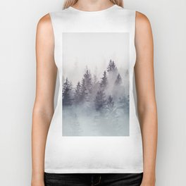Winter Wonderland - Stormy weather Biker Tank