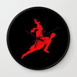 Logtipo de la danza del Venado Wall Clock
