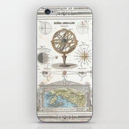 Uranographic and Cosmographic Chart (1852) iPhone Skin