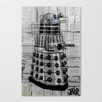 dalek Canvas Prints featuring Dalek by LouiJoverArt