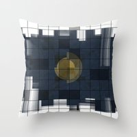 square Throw Pillows featuring Square by thinschi