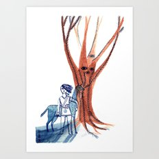For All Who Tread the Forest Art Print