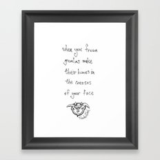 when you frown Framed Art Print