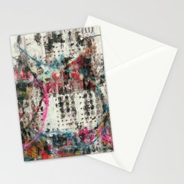 Analog Synthesizer, Abstract painting / illustration Stationery Cards