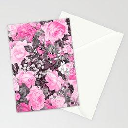 Floral pink vintage pattern Stationery Cards