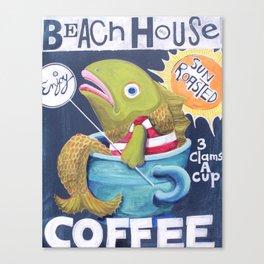 Beach House Coffee Canvas Print