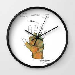 Golf Glove Patent 1955 Wall Clock