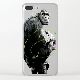 Monkey Listens to Music Clear iPhone Case