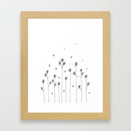 Simple Garden Doodle Art Framed Art Print