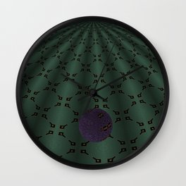Unfitting Frame Orbitals 9 Wall Clock
