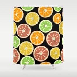 Citrus Fruit Slices, Oranges, Limes, Lemons Shower Curtain