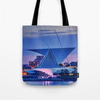 milwaukee Tote Bags featuring Milwaukee Art Museum by Alaina Abplanalp